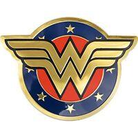 WONDER WOMAN LOGO - METALLIC STICKER 3.5 x 2.5 - BRAND NEW - DECAL 0167