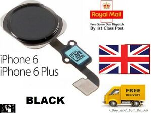 For iPhone 6 & 6 Plus Home Button Flex Cable Replacement BLACK. FAST & FREE