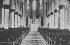 Towson Maryland Catholic Church Interior Antique Postcard K78845