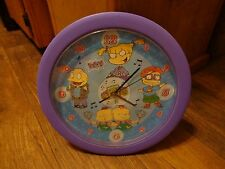 NICKELODEON'S RUGRATS--TALKING WALL CLOCK (LOOK)