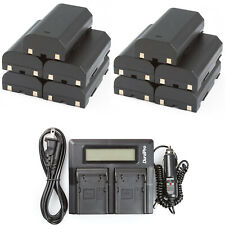 10 Batteries + Dual Rapid Battery Charger for Trimble 5800 54344 Pentax EI-D-LI1