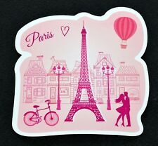 I Love Paris Eiffel Tower Pink Flexible Fridge Refrigerator Magnet by Osarix