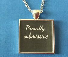 BDSM JEWELRY Necklace Collar PROUDLY SUBMISSIVE Fetish Kink Lifestyle