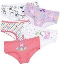 Peppa Pig Girls Knickers with Magical Unicorn Design Children Underwear Pants