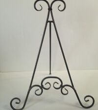 New! Metal Small Decorative Easel Photo Display Rod Iron 20 in Tall Brown Ornate