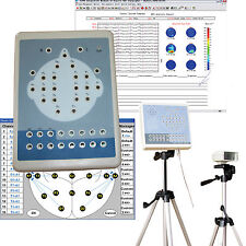 CE KT88-3200 electroencephalogram 32 Channel Digital EEG Mapping System+2 tripod