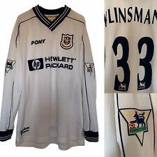 1997 1999 TOTTENHAM HOTSPUR L/S HOME FOOTBALL SHIRT KLINSMANN #33 - L Spurs VTG