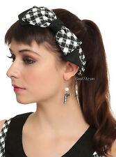 Orphan Black Alison Bow Headband Hair Band Gingham Revolver & Glue Gun Hot Topic