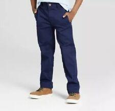 New listing Cat & Jack Boys Pants School Adj Waist Straight Leg Reinforced Knee Size 14