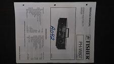 Fisher ph-w807 service manual original repair book stereo boombox radio