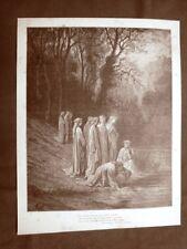 Incisione di Gustave Dorè del 1890 Dante nell'Eunoè Divina Commedia Purgatorio