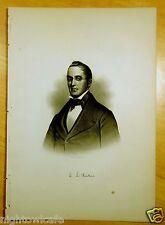 REV. E. L. PARKER Derry, NH Antique Print 1882 Steel Engraving NEW HAMPSHIRE