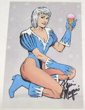 1988 Kevin Maguire SIGNED JLA Justice League Art Post Card ~ Ice