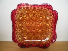 "AMBERINA HOBBS Daisy Button Square Scalloped Plate (s) 5 3/4"" Victorian"