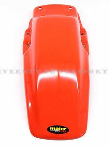 Rear Fender 85-00 Honda XR80 R XR100 R Flash Red Orange Plastic Mud Guard  #H32