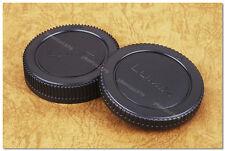 Lens Cap Set LUMIX Micro 43 M4/3 Olympus Panasonic Body Cap + Rear GH3 G3 G6 GX1