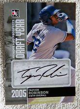 Trayvon Robinson 2011 ITG H&P Draft Year Silver Auto Card /39 Seattle Mariners