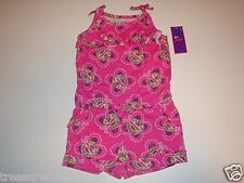 So Jenni by Jennifer Moore Romper Outfit  ~ Size 4T ~ Pink Butterfly Print ~ NWT