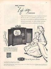 1949 DuMont Vintage Television Bradford AM-FM Radio Model PRINT AD