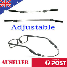 Adjustable Silicone Glasses Cord Wire Lanyard Strap Sunglasses Holder Black AU