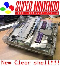 SNES Nintendo Console 3rd Party Translucent Case Shell Transparent Clear