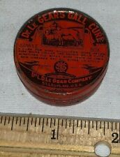 ANTIQUE DR LEGEARS SAMPLE TIN LITHO GALL CURE CAN HORSE VET MEDICINE VETERINARY