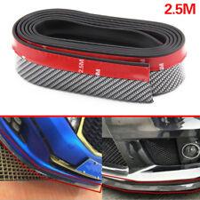 Universal Car Carbon Fiber Front Bumper Lip Splitter Valance Chin Protector 2.5M