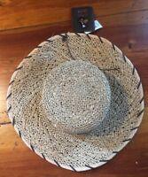 NWT Peter Grimm Natural Antoinette O/S Wide Brim Bolero Straw Sun Hat