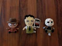 Horror Lot Jason Voorhees Freddy Krueger Leatherface Rare Htf Plush Mopeez Funko
