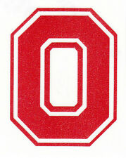 REFLECTIVE Ohio State Buckeyes Block O 2 inch Red fire helmet decal sticker osu