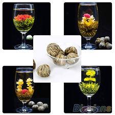 4 Balls Beautifull Different Handmade Blooming Flower Green Tea Gift Healthy