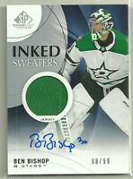 2019 19-20 SP GAME USED INKED SWEATERS JERSEY AUTO BEN BISHOP #IS-BB #'d 88/99