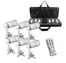 Chauvet DJ EZpin IRC Pack LED Wireless Battery 6 Pin Spot Lights w/Case & Remote