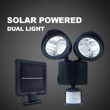 22 LED Solar Powered Dual Light Flood Lamp Security Garage Motion Sensor Outdoor