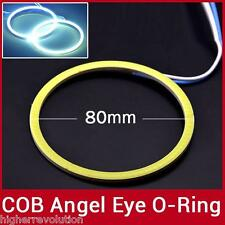 2X 80mm LED COB Angel Eye  Ring O-ring Car Light Super Bright Waterproof