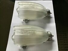 New ListingVintage Art Deco Glass Slip Shade Wall Sconces/Lamps/ Light Fixtures C16 12R