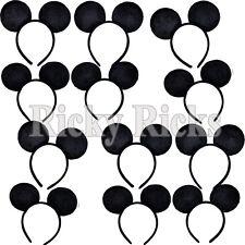 12 Mickey Mouse Ears Minnie Headbands Plush Costume Favors Girls Boys Kids