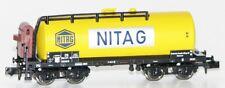 "Minitrix / Trix N 11130-5 Vagón Cisterna con Garita Guardafrenos"" Nitag "" Db Ag"