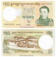 Bhutan 20 Ngultrum 2006 P-30a Banknotes UNC