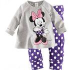 Baby Boys Girls Long Sleeve Sleepwear Kids Cotton Pyjamas Set PJS Nightie Outfit