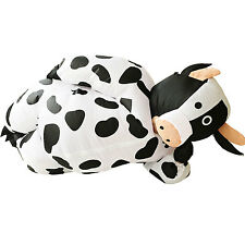 Adult Inflatable Cow Costume Animal Air Blowup Fancy Dress Halloween Outfit Suit