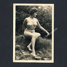#220 RÖSSLER AKTFOTO / NUDE WOMAN STUDY * Vintage 1950s Outdoors Photo - no PC !