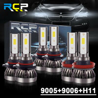 9005+9006+H11 Combo LED Headlight Kits 120W High/Low Beam Bulbs 6000K White RCP