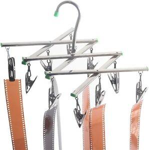Foldable Darkroom Film Negative Drying Hanging Rack Frame Hanger 10 Clips Kit