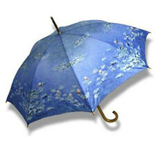 Cascada Collection Artist Print Wood Handle Walking Umbrella - Monet Waterlilies