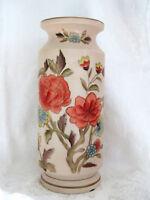 Andrea by Sadek Large Vintage Gold Trim Multi Color Floral Vase Japan EUC