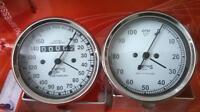 Smiths 150 mph Speedometer Tachometer 80 mm fitment M18x1.5 thread Replica WH