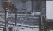 Barberini Palace,Temple of Fortuna, Palestrina, Italy, Magic Lantern Glass Slide