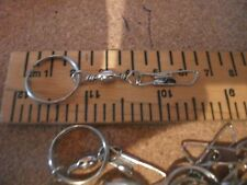 25 x 6.5cm Safety ring and snap swivels for fishing tackle weights, kites.....