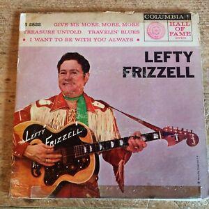 HEAR - 1958 HONKY TONK - LEFTY FRIZZELL - TRAVELIN' BLUES + 3 -COLUMBIA EP
